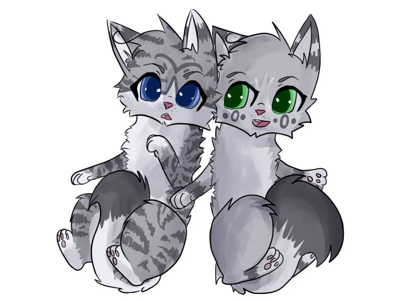 _warrior_cats__ivypool_and_dovewing_by_blazedestroyed-d6uybtn