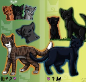 crowfeather_and_leafpool_by_xswiftbreezex-d5bjyzh