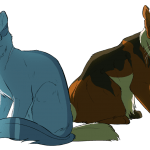Parallel Paths: Bluestar and Mapleshade by Viperfrost