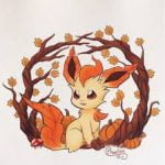 Leafeon that growls at dancing turkeys that steal her apple pie (Leafpaw/growl)
