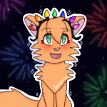 🥳 New year's Sandy hopes for the best in 2021! 🎉 (Sandpaw/frost)